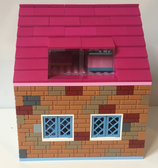 Lego house pink roof