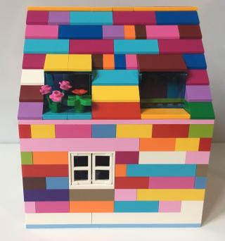 Rainbow lego house