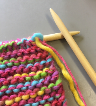 Knitting with size 9 needles