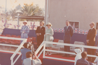 Queen Elizabeth II and Prince Philip Abu Dhabi 1979