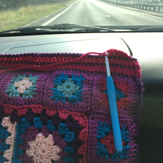 Crochet in the car
