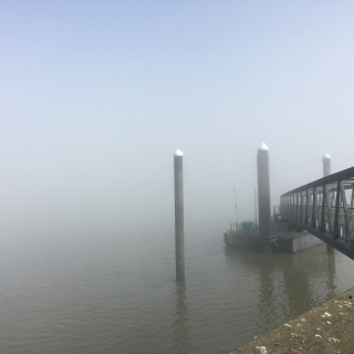 Gravesend in the mist